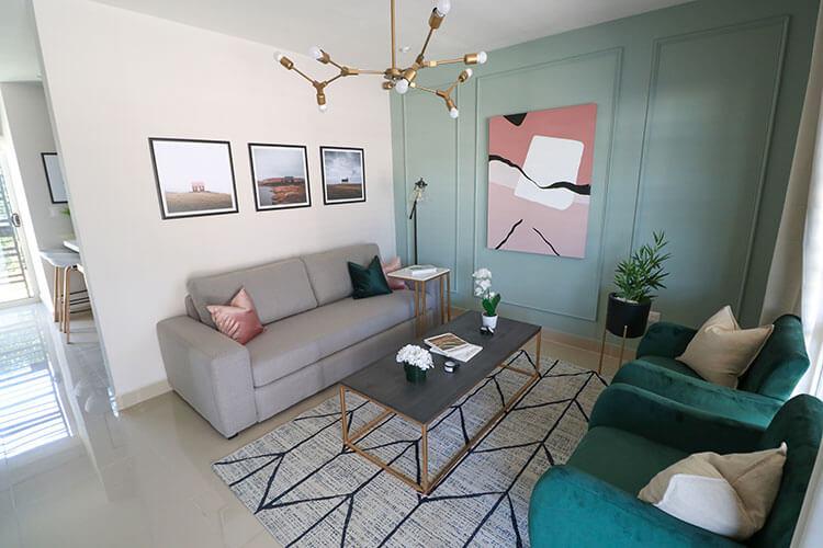 Sala de casa modelo Ibiza 3N en Montenova Residencial.