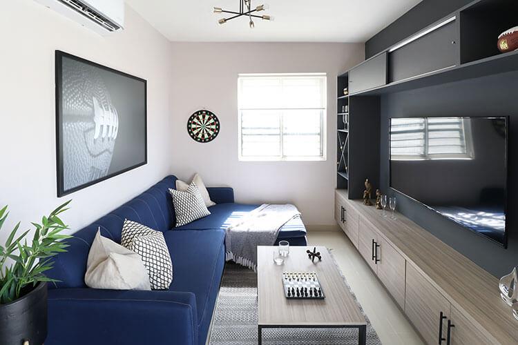 Sala de TV de casa modelo Ibiza 3N en Montenova Residencial.