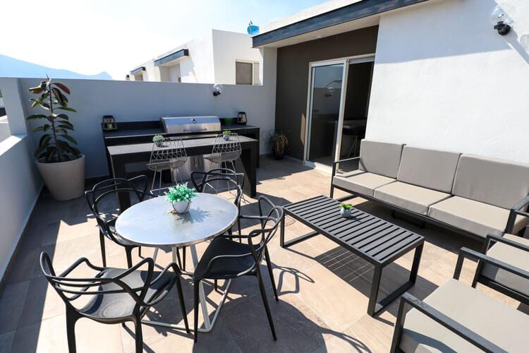Terraza de casa en Escobedo modelo Ibiza VI en Anáhuac San Patricio.