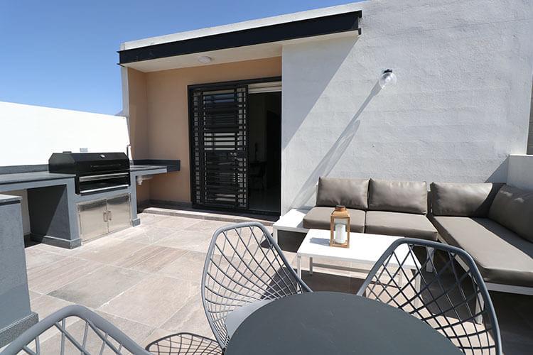 Terraza de casa modelo Ibiza 3N en Montenova Residencial.