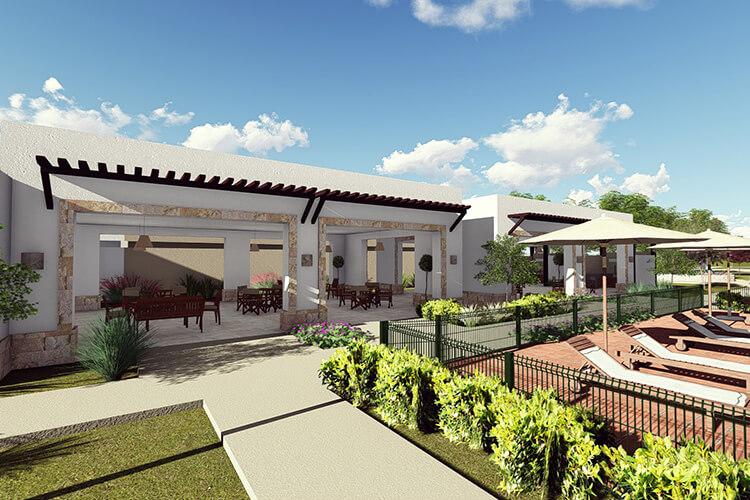 Casa club en De Alba Residencial en León, Guanajuato.