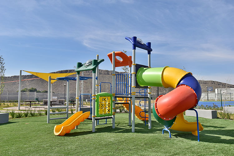 Área de juegos infantiles en Alyssa Residencial.