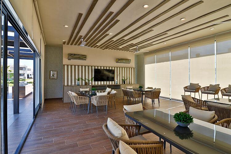 Interior de casa club en Sorrento Residencial.