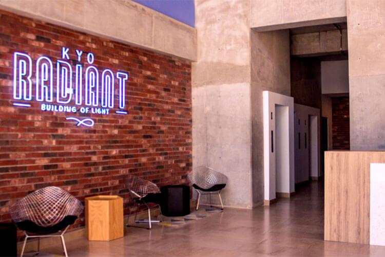 Lobby de torre Kyo Radiant en Monterrey centro