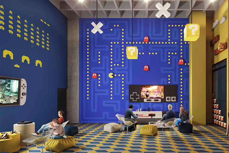 Salón de videojuegos en Torre West