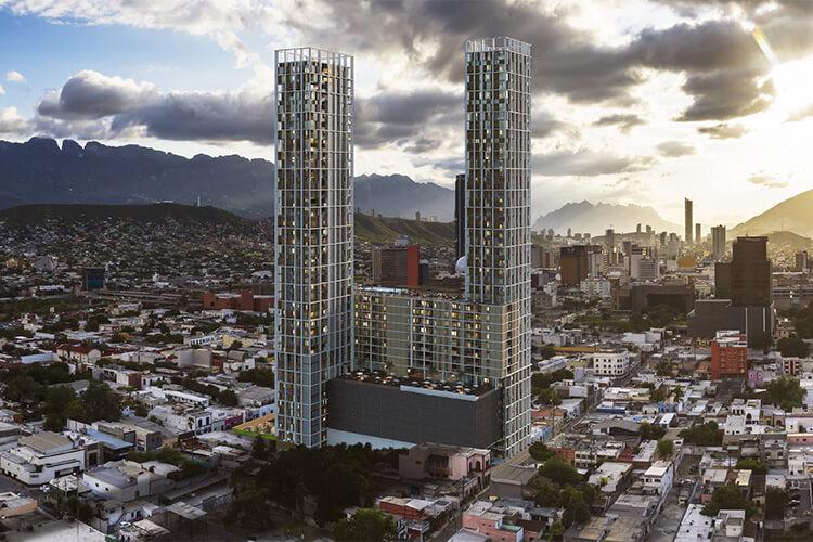 Torre de departamentos Vía Zócalo en Monterrey centro
