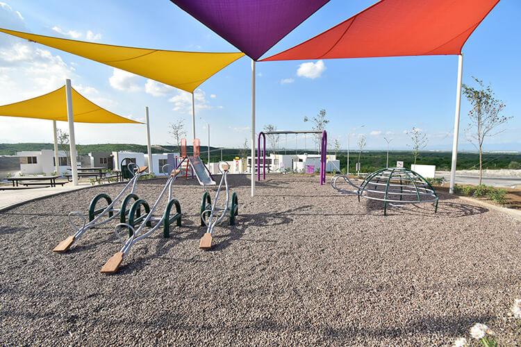 Área de juegos infantiles en el fraccionamiento San Cristóbal