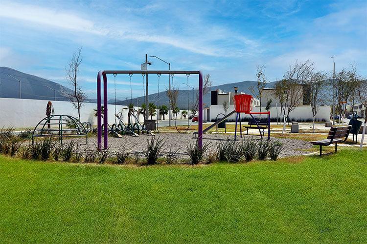 Área de juegos infantiles en fraccionamiento Santa María
