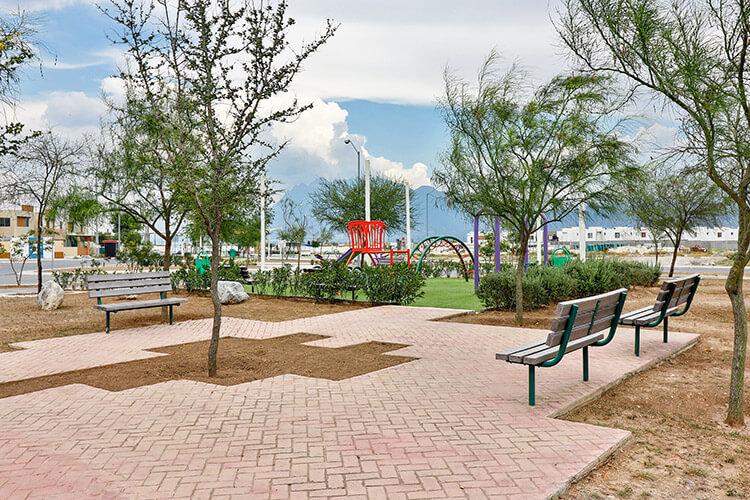 Parque central de fraccionamiento Vistabella en García