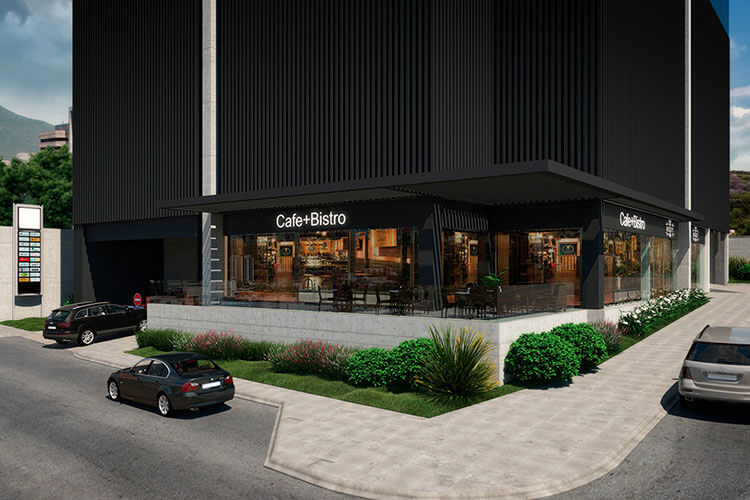 Área comercial de Torre Pixel
