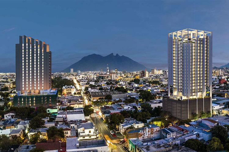 Torre Icónicah en el centro de Monterrey