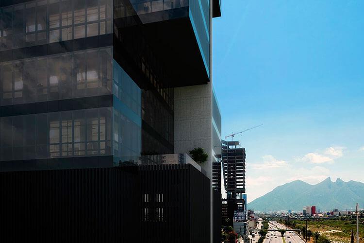 Vista del Cerro de la Silla desde la Torre Pixel