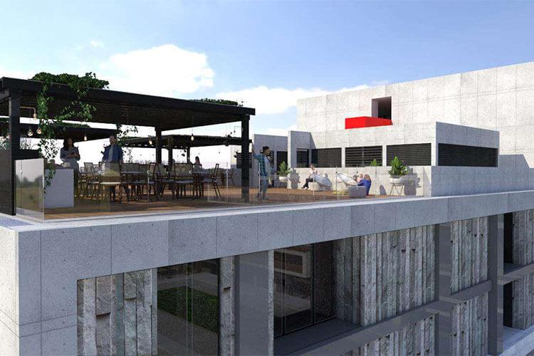 Área social en Alaia Cumbres Center