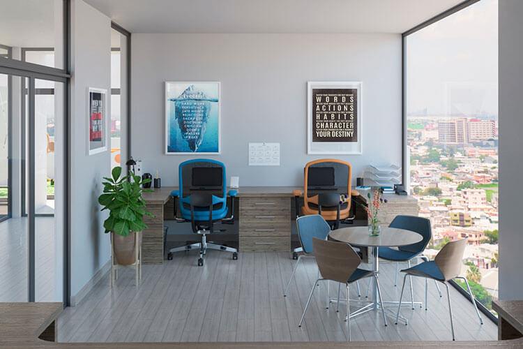 Área de cowork en departamentos Alejandría en Monterrey