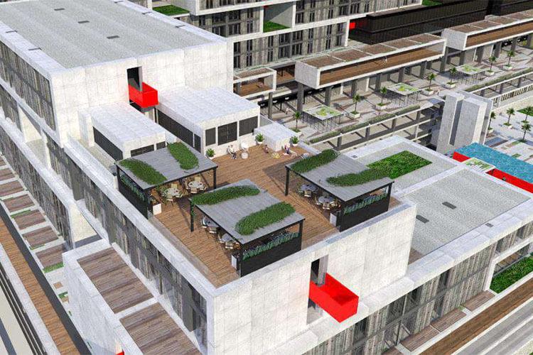 Roof garden en Alaia Cumbres Center